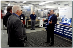 Tours of Sheridan College labs were a feature of the Learning Forum it hosted.